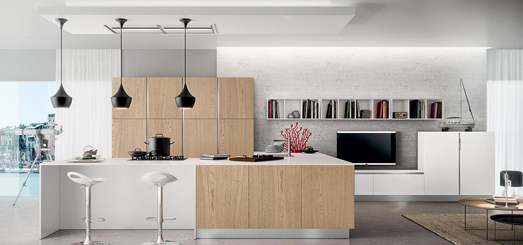 Beautiful Cucina Rovere Bianco Contemporary - Skilifts.us ...